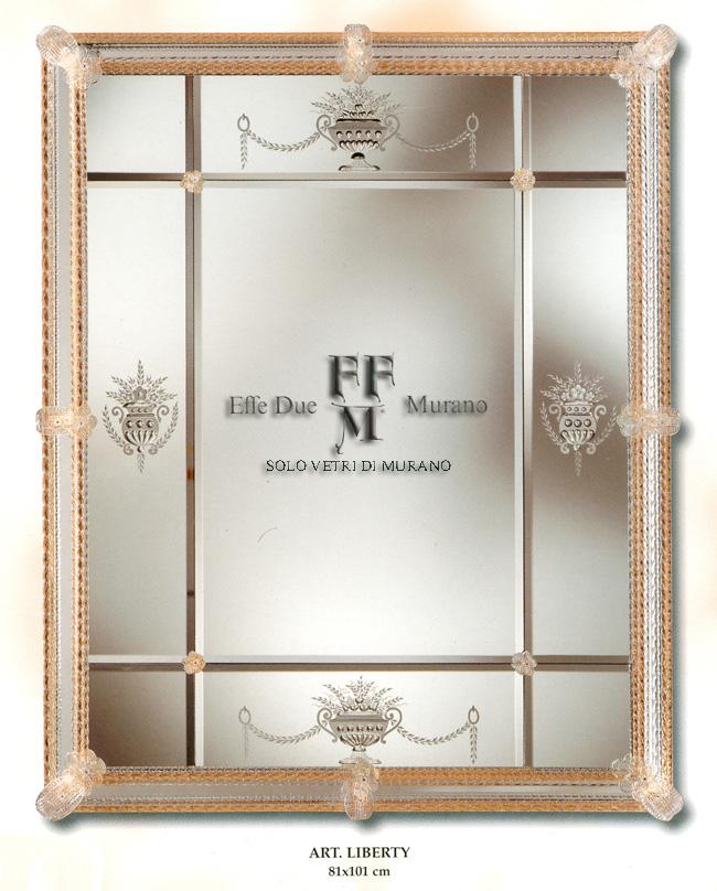 Murano Glass Mirror Liberty