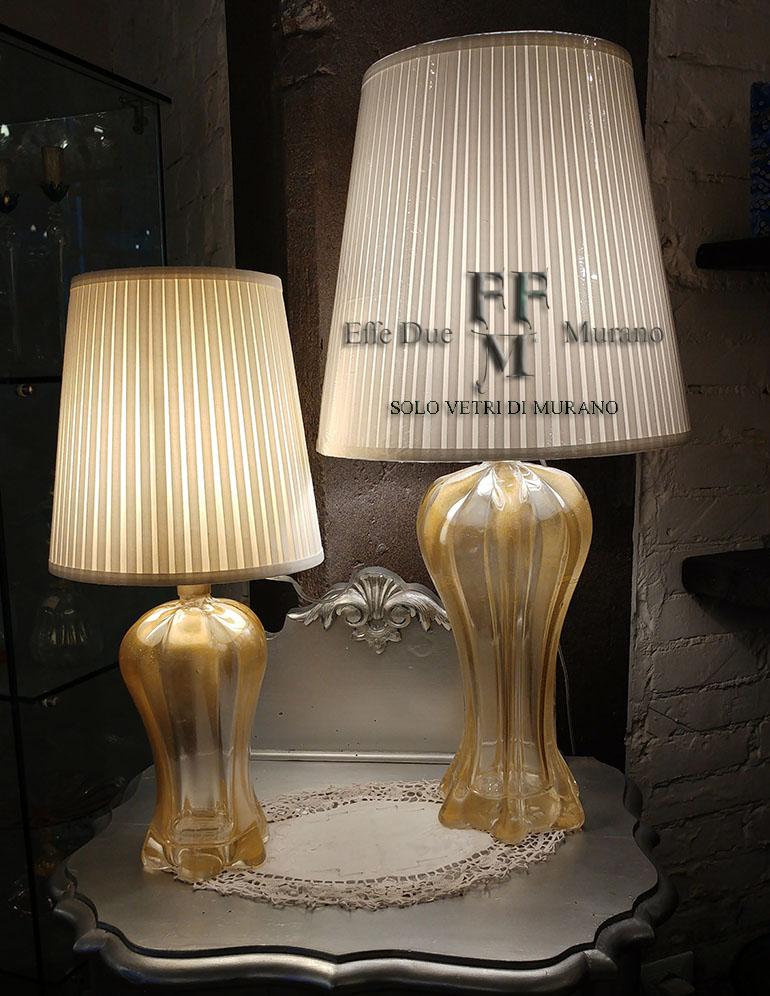 llampade da tavolo in vetro di murano classiche