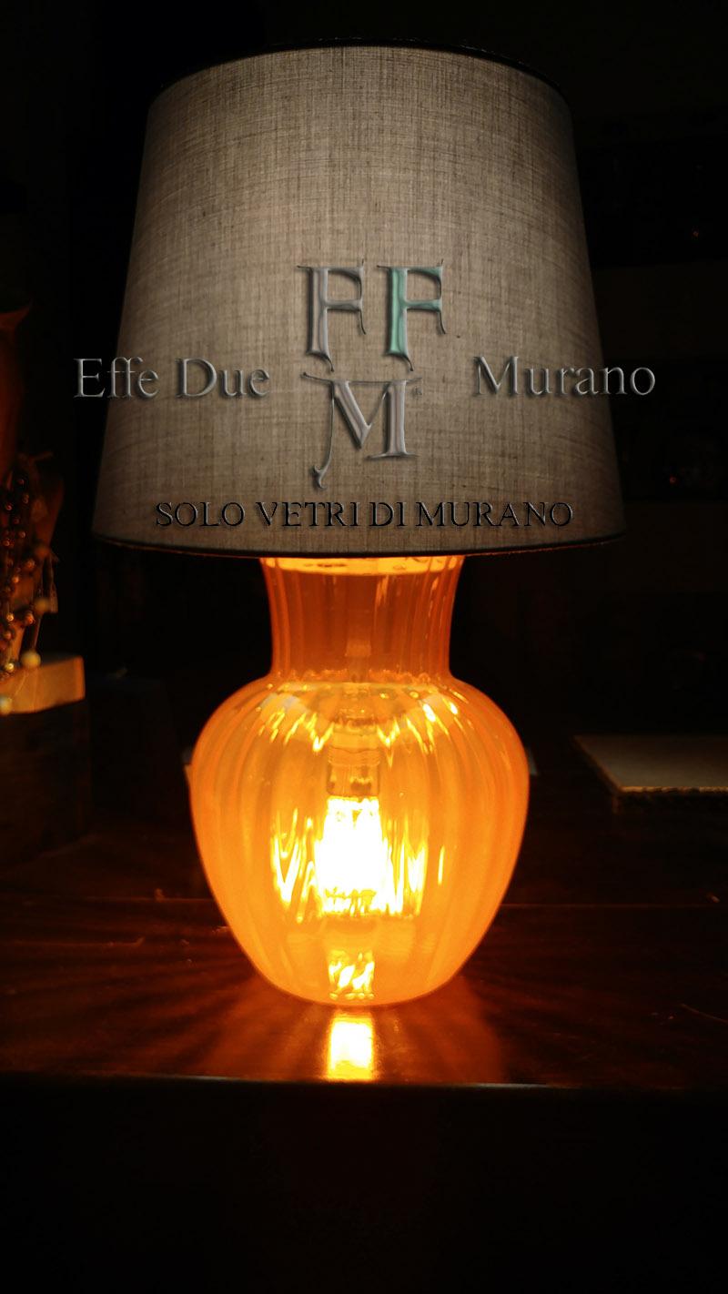 lampada tavolo vaso  arancione