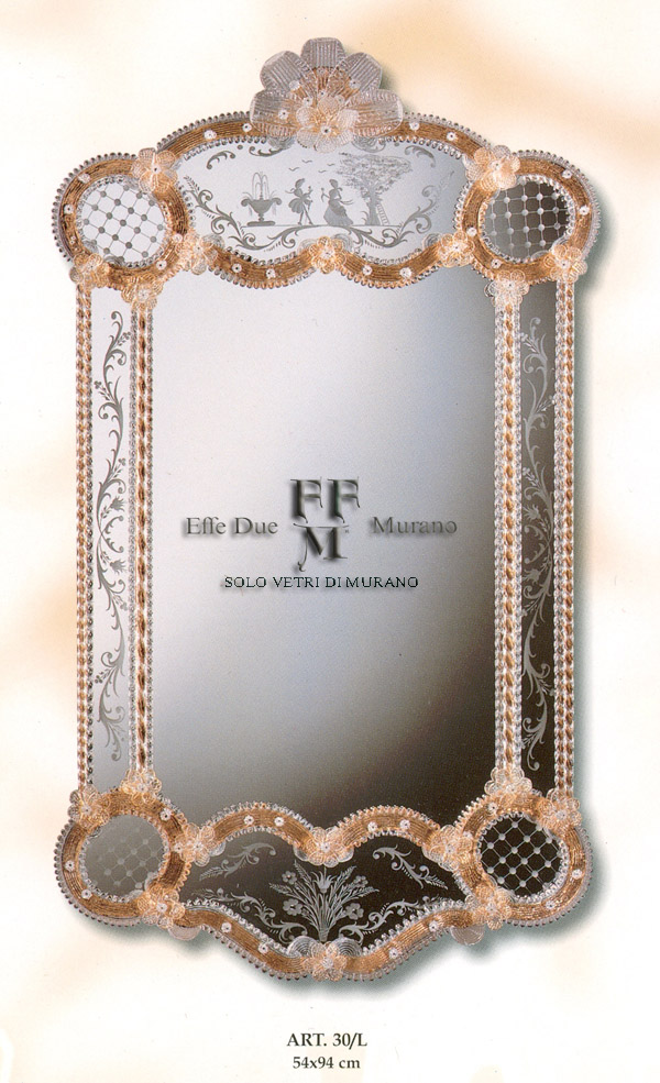 Murano  Glass Mirror 30 L