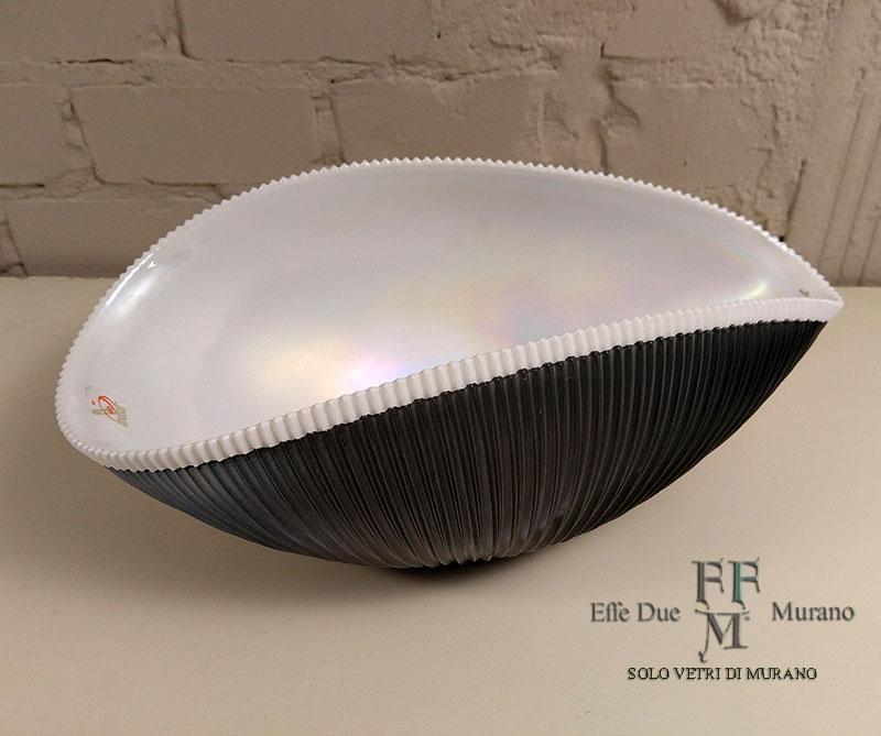 yalos shell centrotavola  incalmo grigio 30 cm