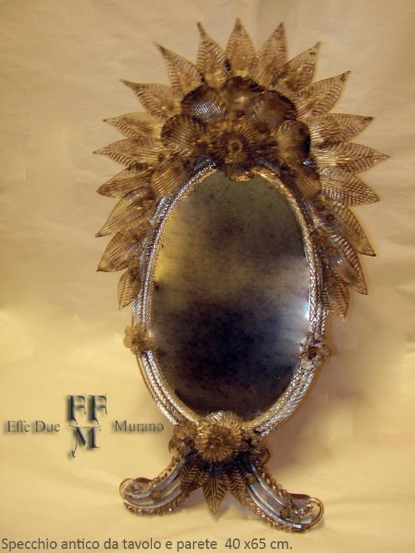 Murano Glass Antique Mirror Table