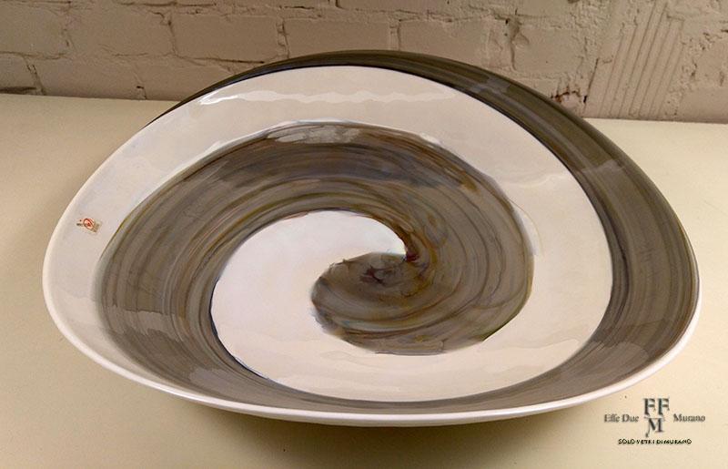 yalos centrotavola  piatto piega 50 cm steel