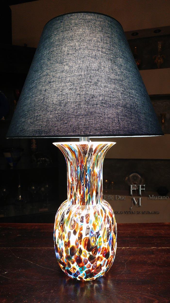 lampada tavolo vaso incamiciato murrine