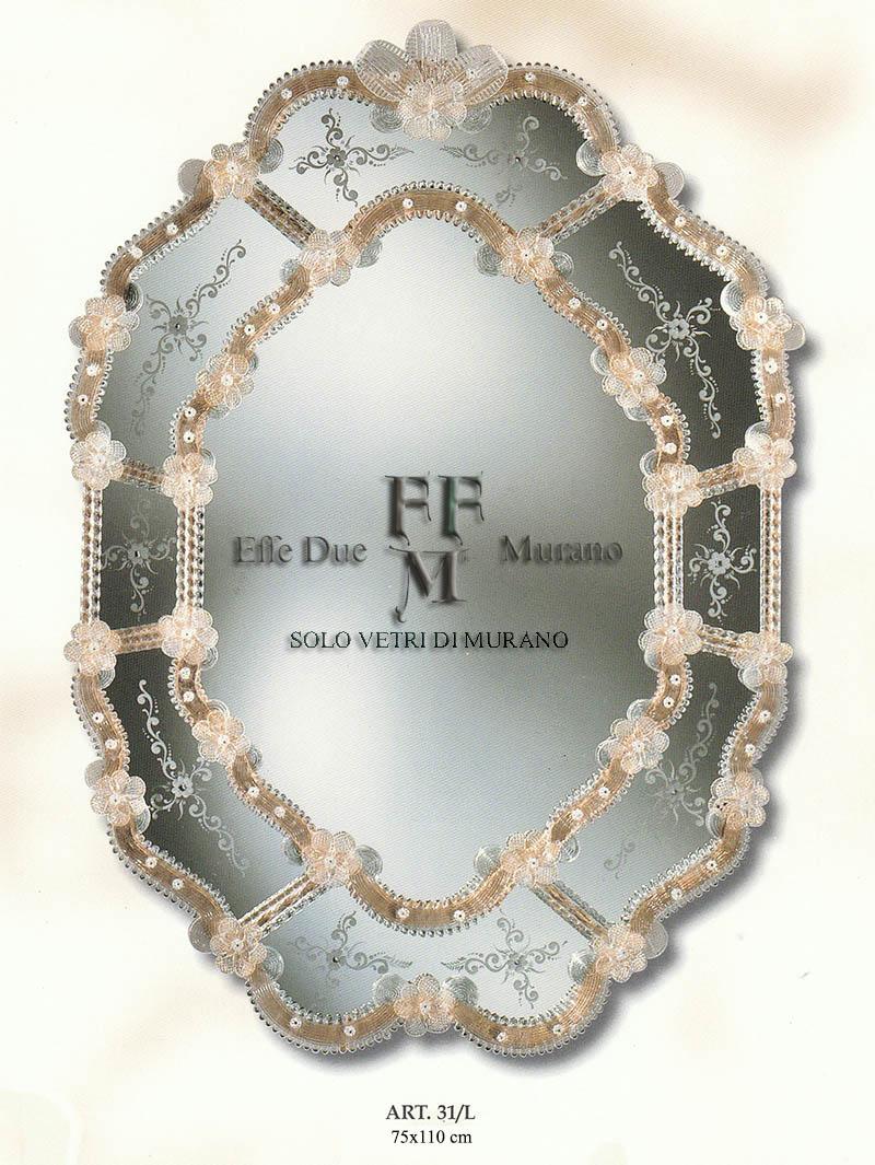 Murano  Glass Mirror 31 L BIG