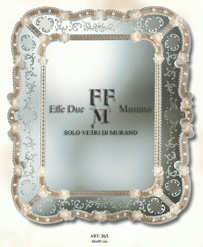 Murano  Glass Mirror 26 L