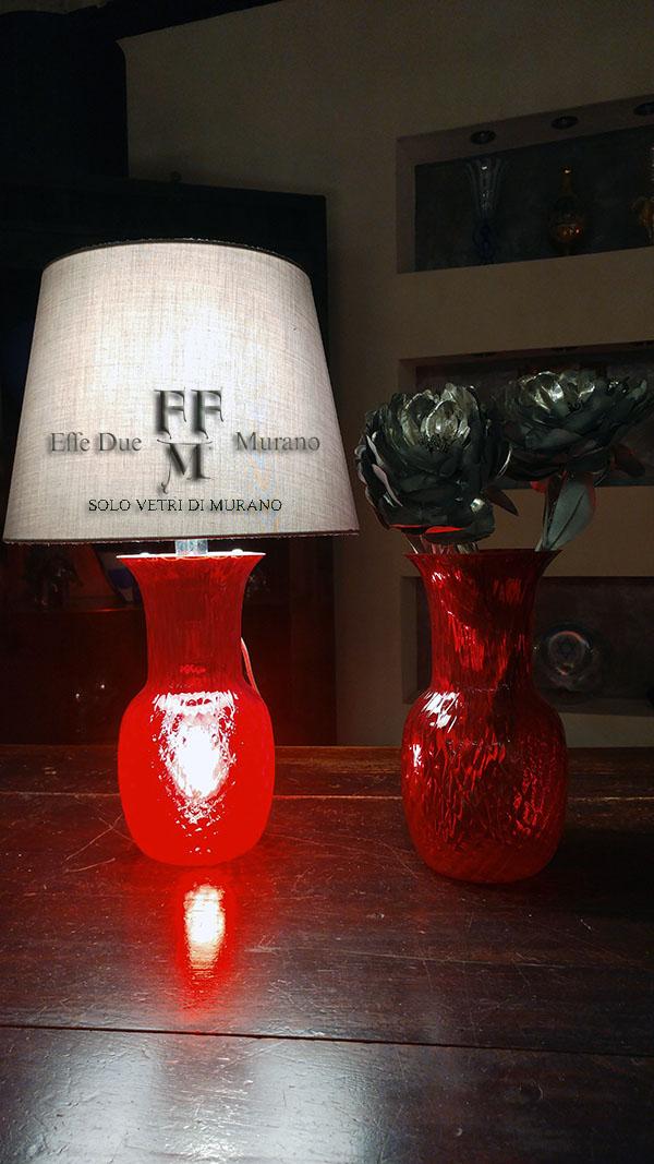 lampada tavolo vaso rosso