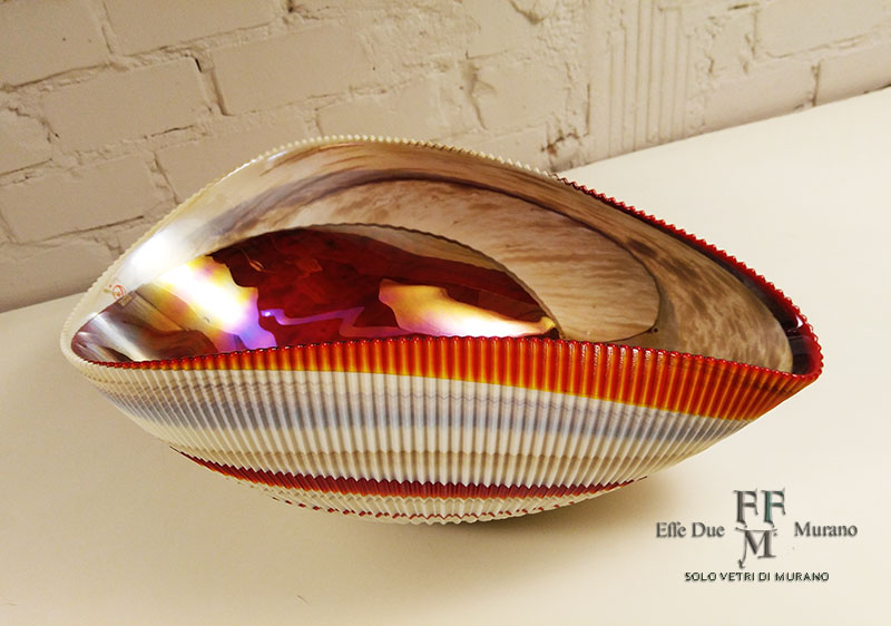 yalos centrotavola  shell rouge 44 cm