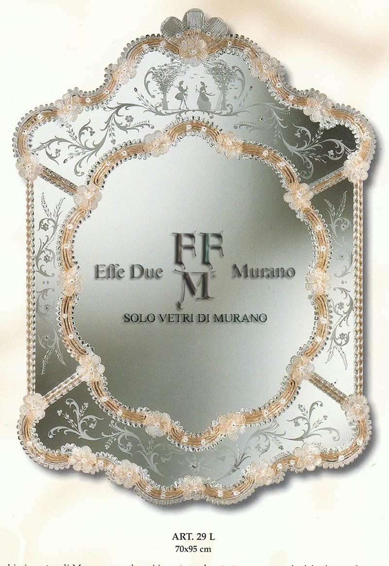 Murano Glass Mirror 29 L