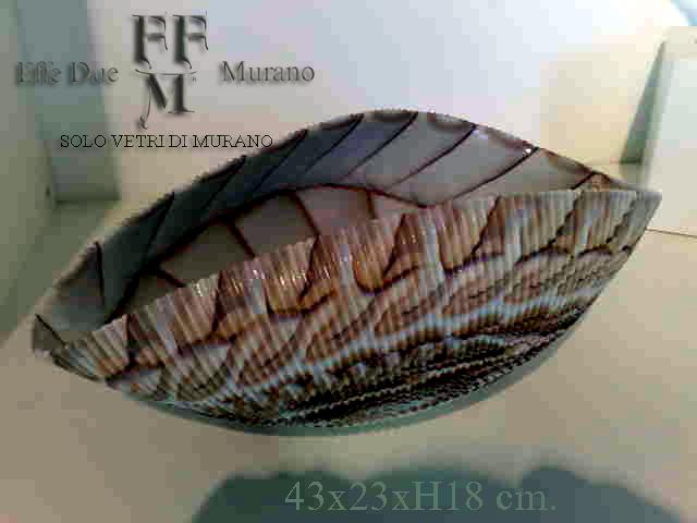 conchiglia in vetro di Murano