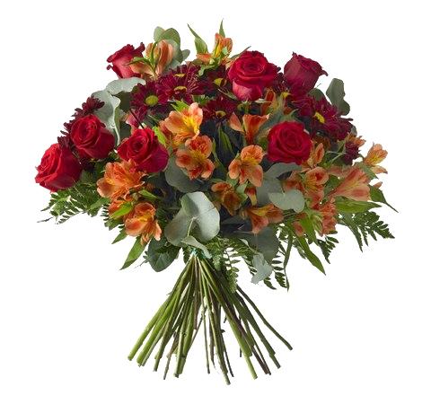Bouquet Rosas & Alstroemerias. Online 009