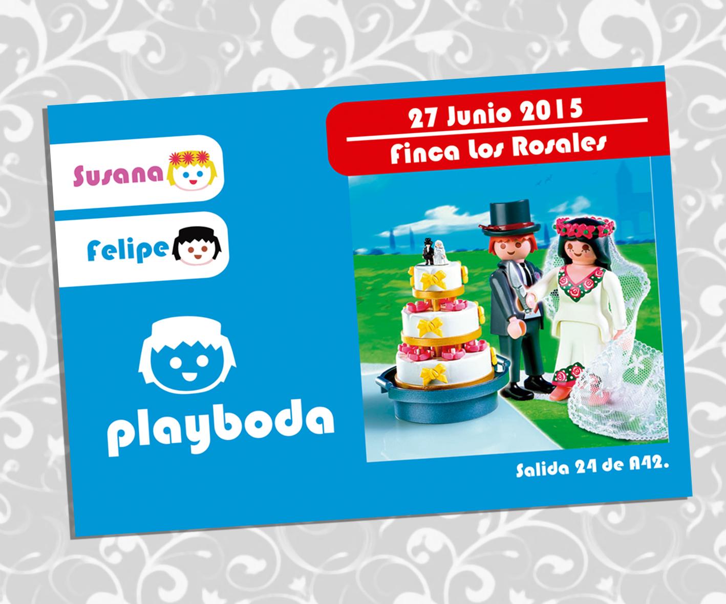 Invitación Boda Playmobil