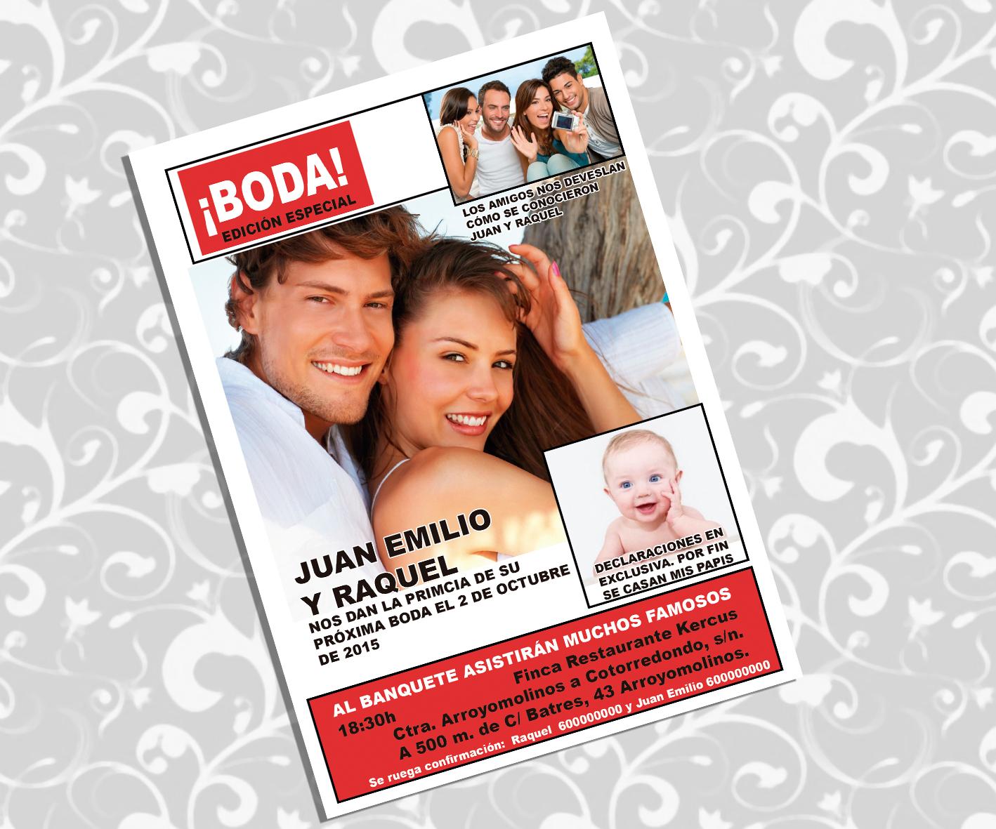 Invitaciones Boda REVISTA