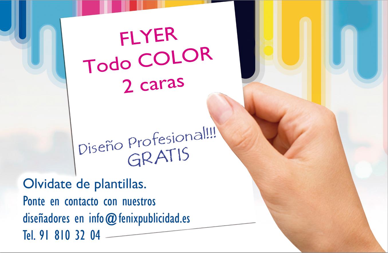 5.000 Flyer A5 (Cuartilla) a todo color 2 caras 195€