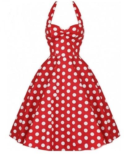 Vestido estilo Audrey Hepburn Rojo