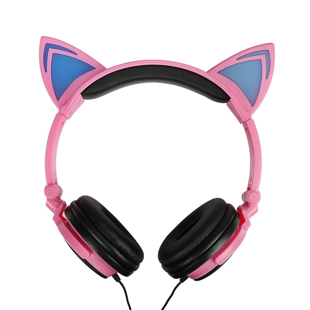 Auriculares Orejas de Gato Rosas