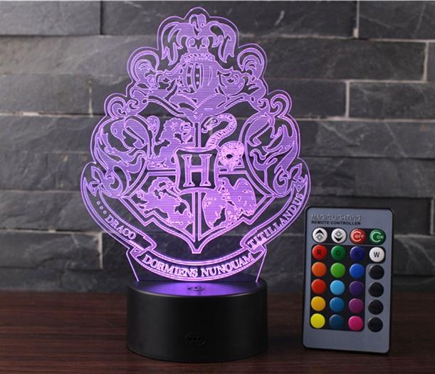 Lampara 3D Hogwarts