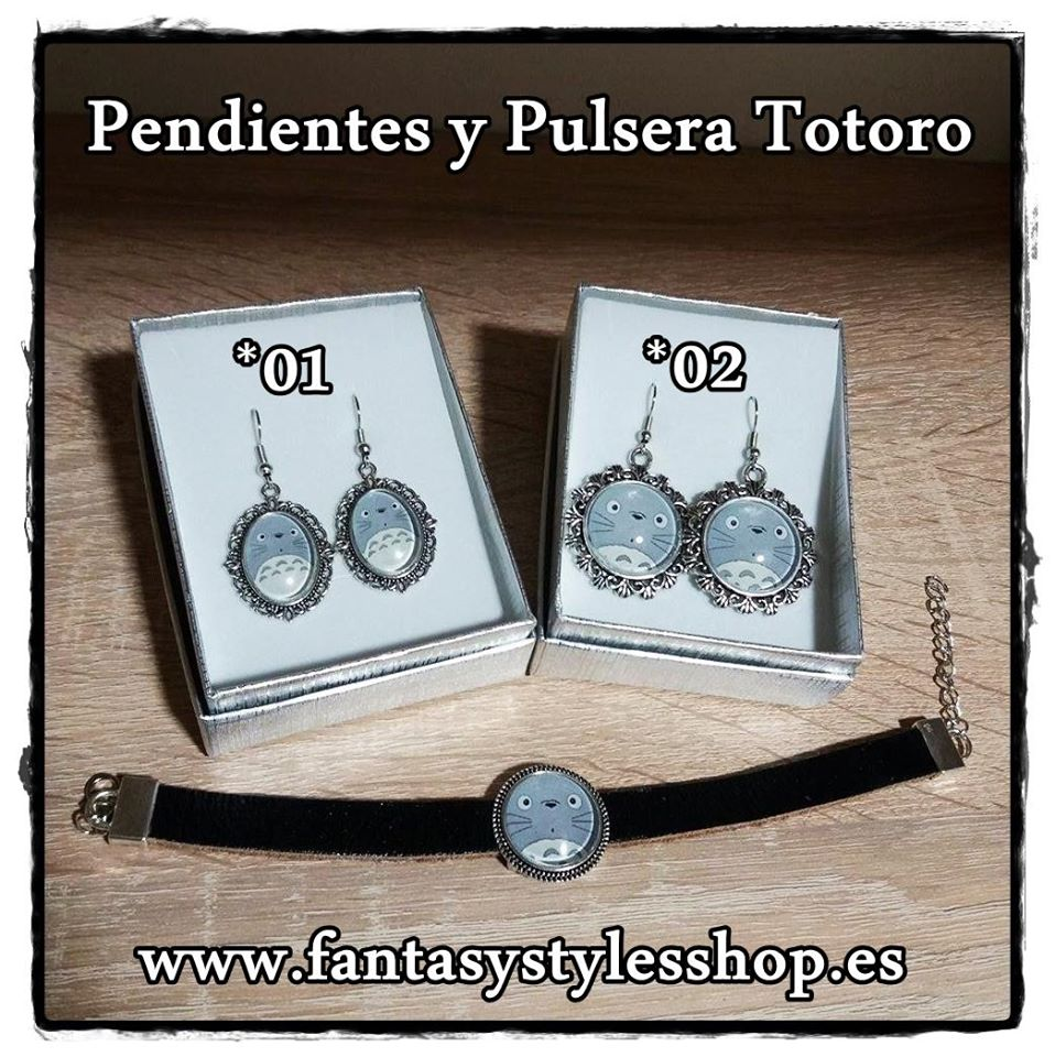 Pendientes y Pulsera Totoro.