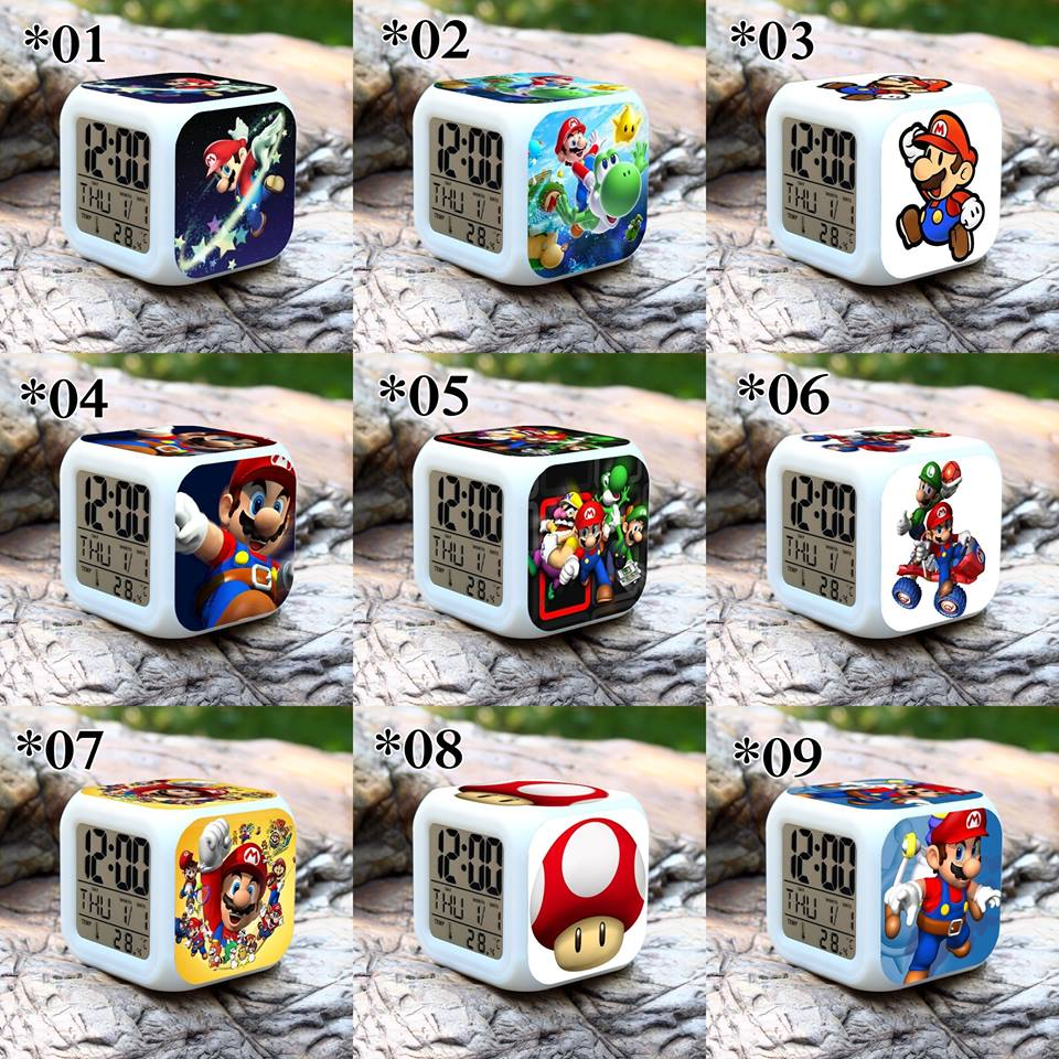 Relojes digitales Super Mario