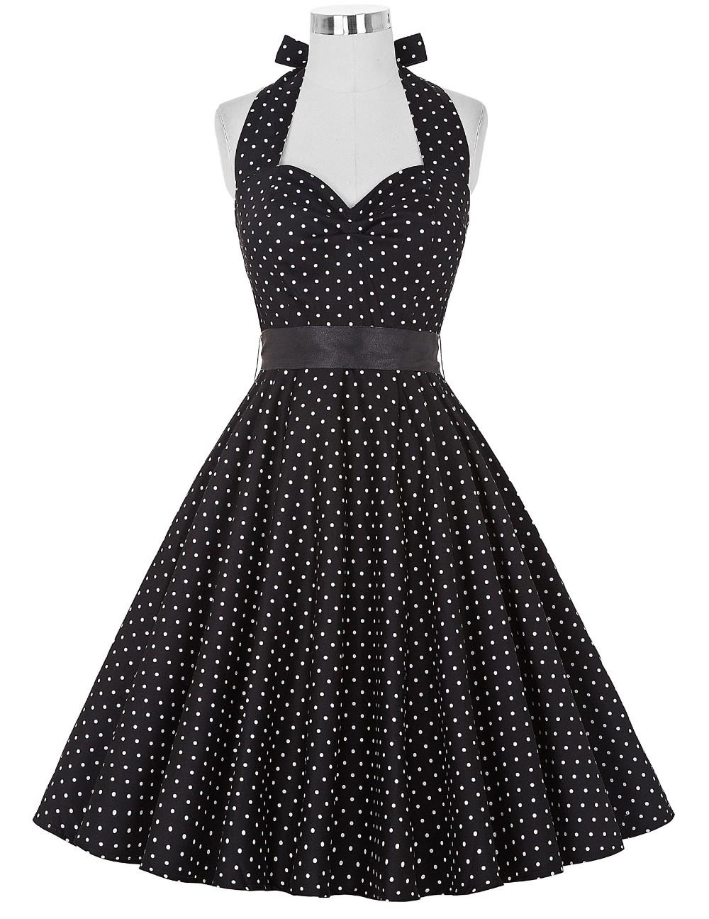 Vestido de Lunares Rockabilly negro/blanco