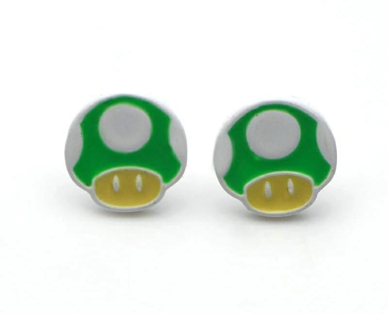 Pendientes Seta Verde