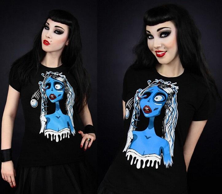 Camiseta Novia Cadáver negra.