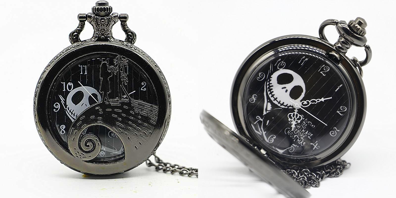 Reloj de Bolsillo Jack y Sally Negro