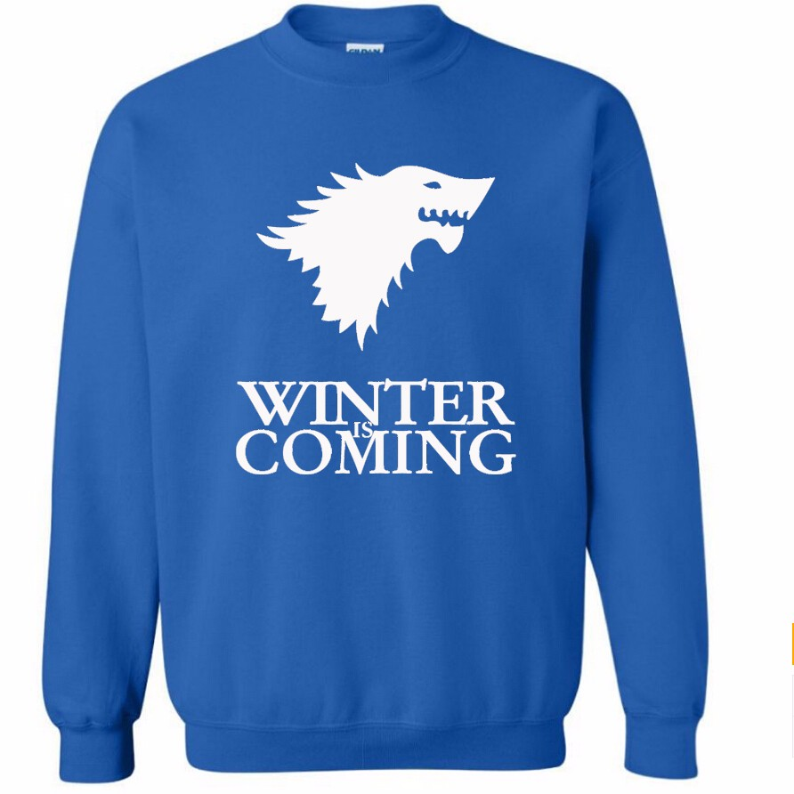 Sudadera Winter is Coming Azul (Logo blanco)