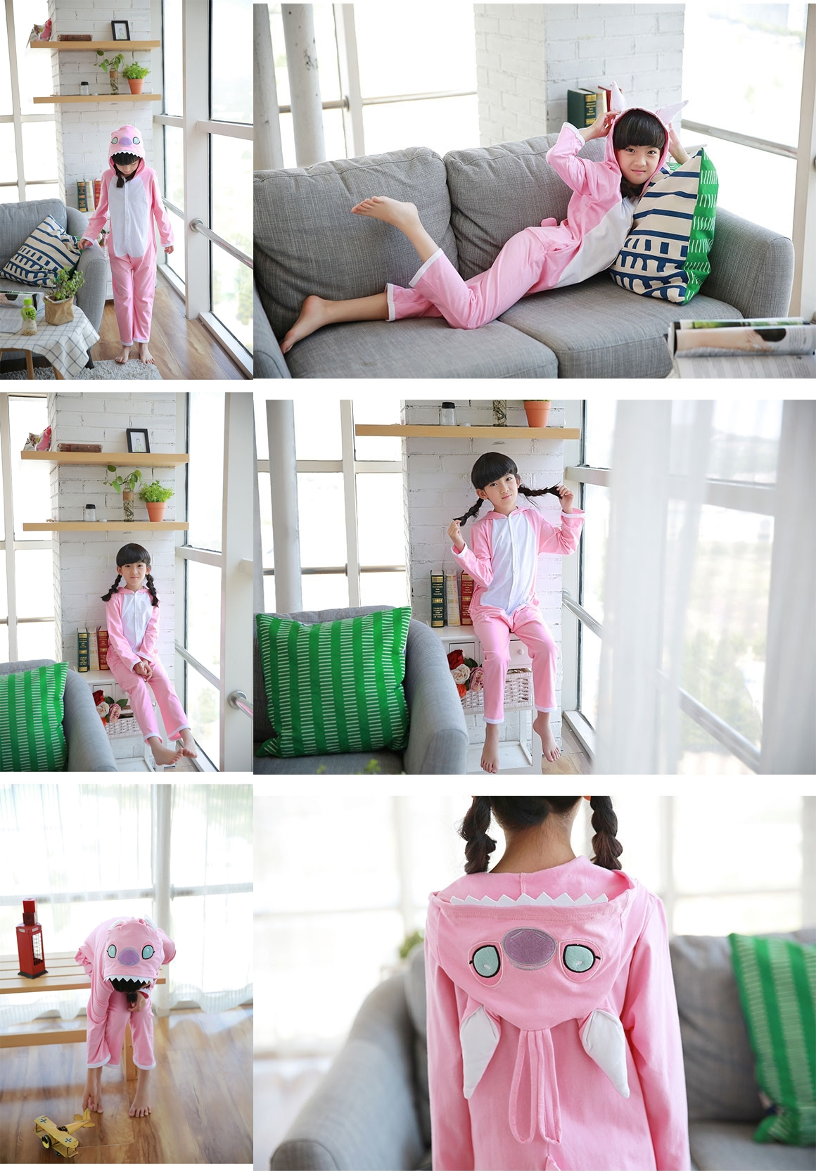 Pijama Completo de Pink Stitch para niñas