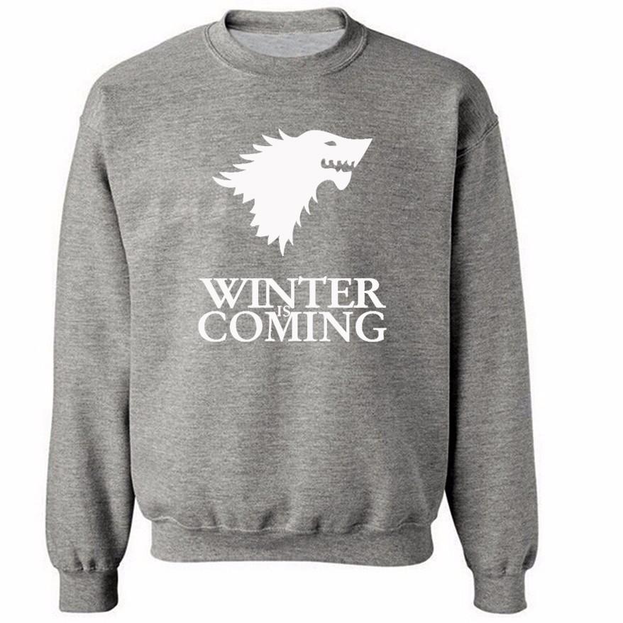 Sudadera Winter is Coming Gris (Logo blanco)