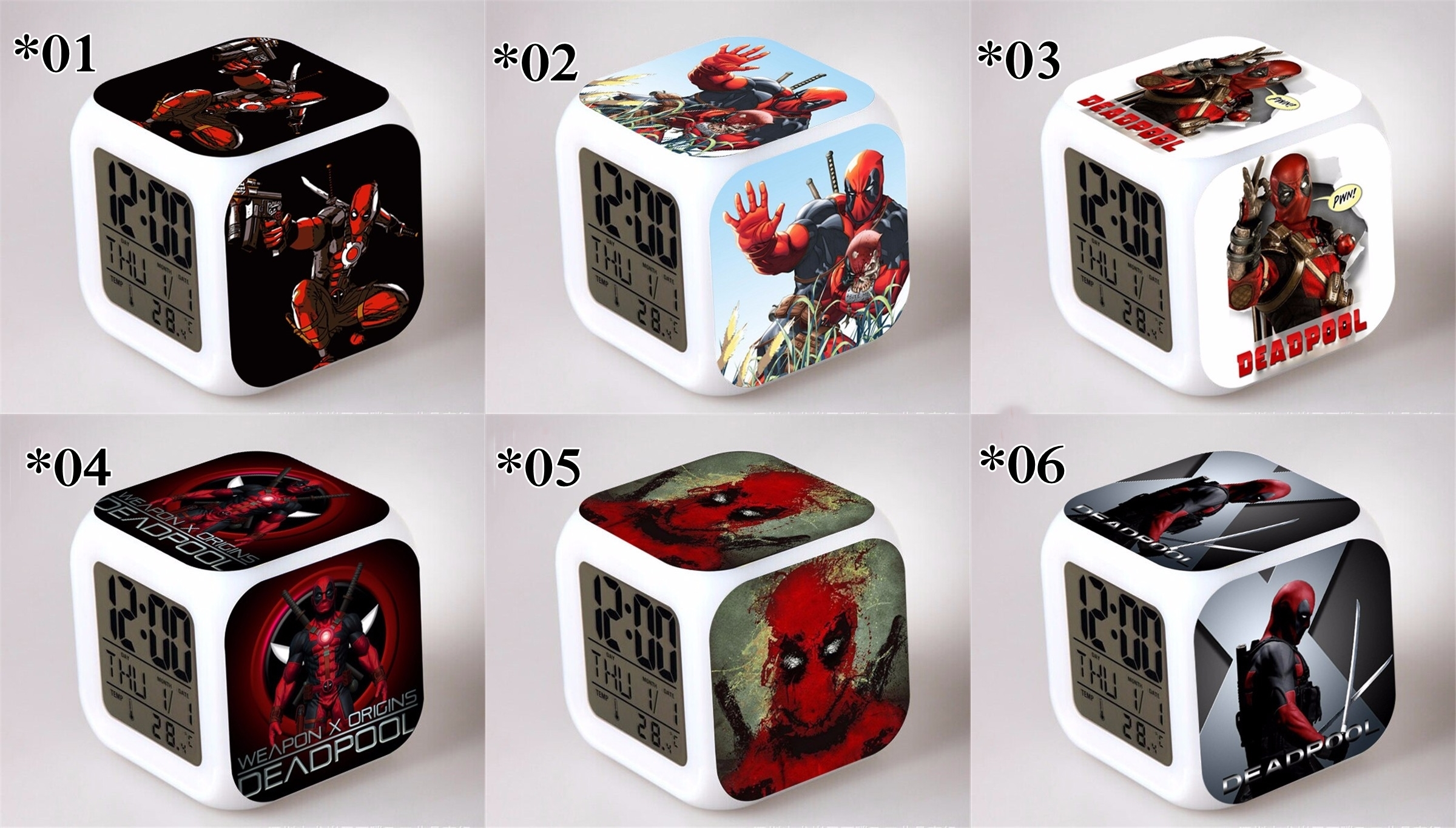Relojes digitales Dead Pool *03