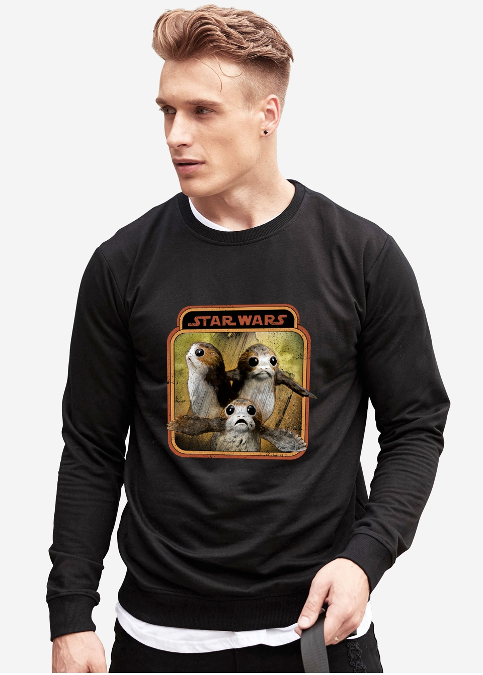 Sudadera Porg Star Wars Negra