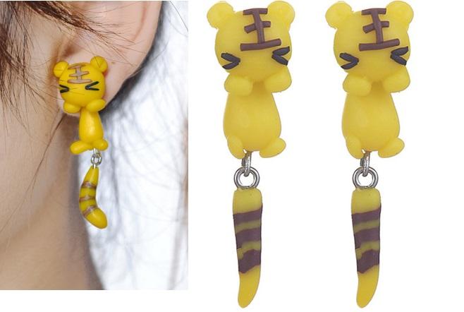 Pendientes Zorrito amarillo