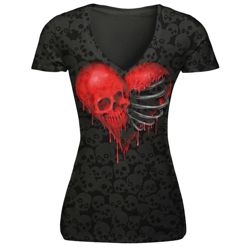 Camiseta Skull Heart