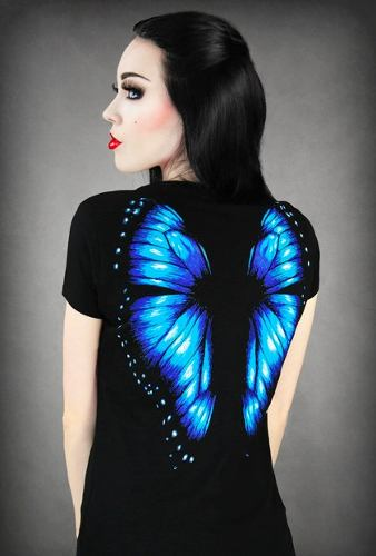 Camiseta Alas Mariposa Azules