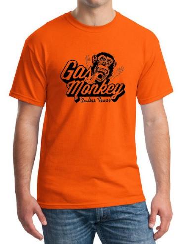 Camiseta Gas Monkey Naranja