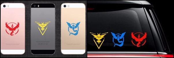 Vinilos Equipo Valor Pokemon Go