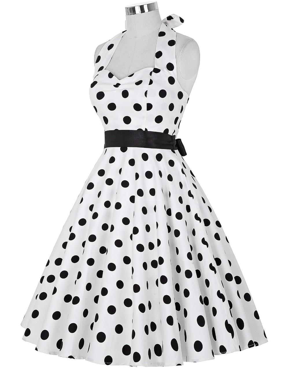 Vestido de Lunares Rockabilly blanco/negro