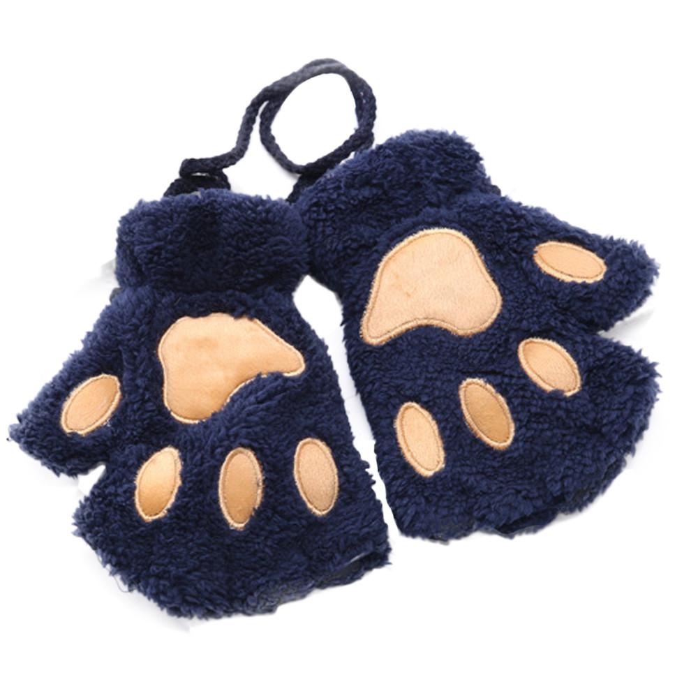 Guantes de patitas de gato Azules