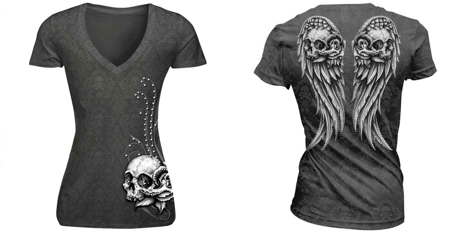 Camiseta Skull Gris