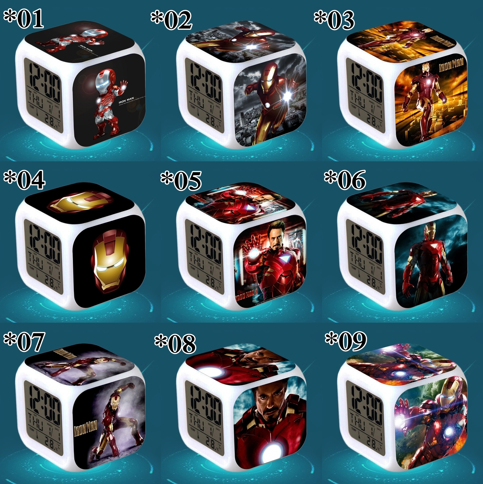Relojes digitales Iron Man *01