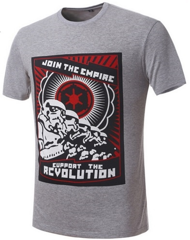 Camiseta Join the empire gris