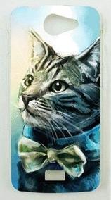 Carcasa Gato Elegante BQ Aquaris 5.