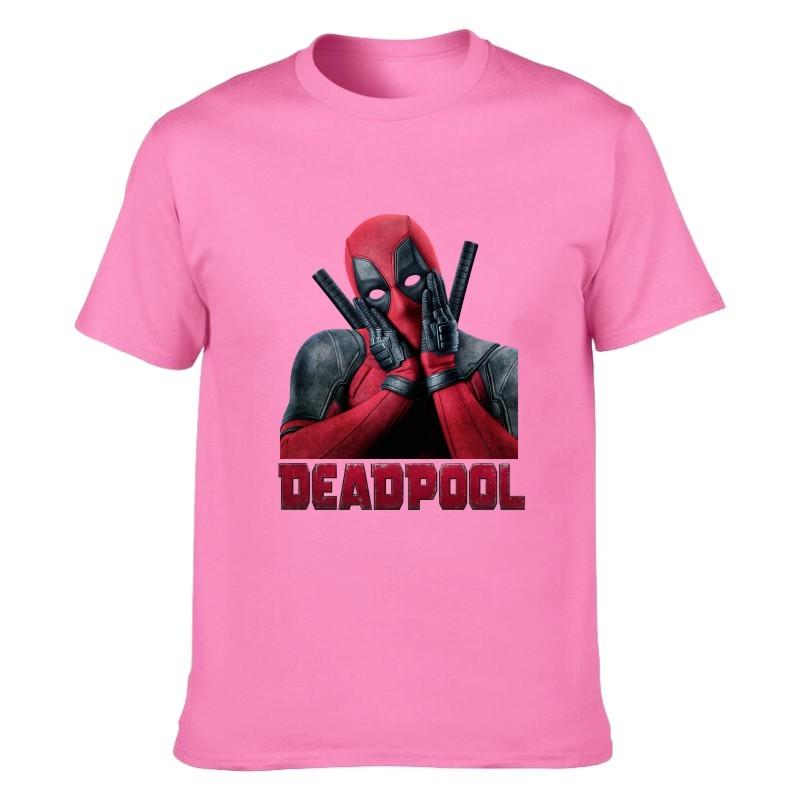 Camiseta Deadpool Rosa Unisex 02