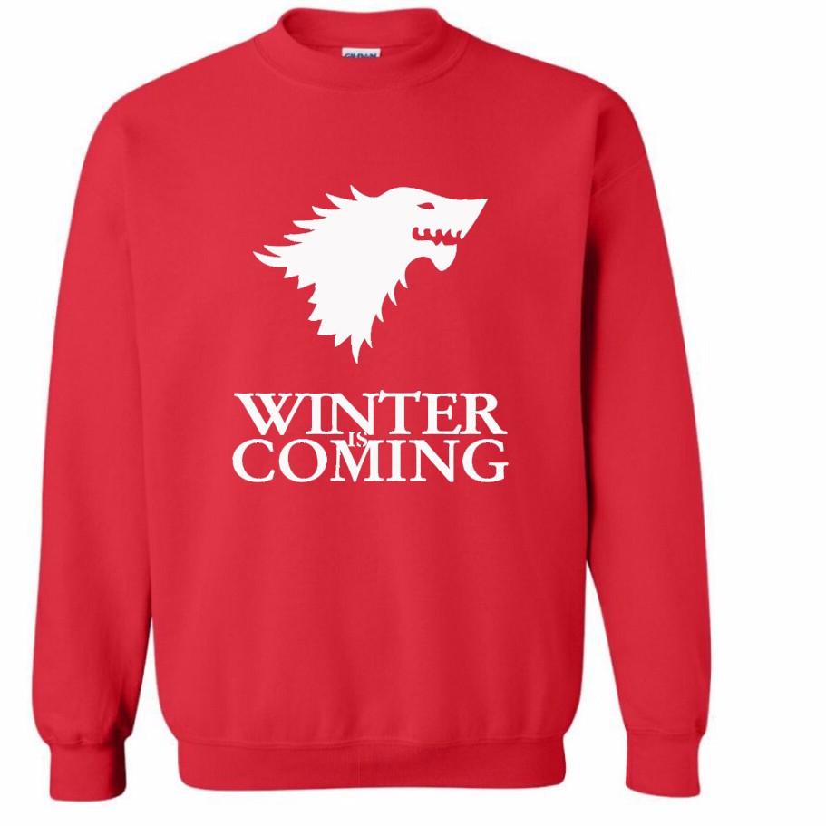 Sudadera Winter is Coming Roja (Logo blanco)