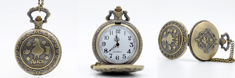 Reloj de Bolsillo Alicia en el Pais de las Maravillas