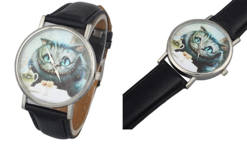 Reloj de pulsera del gato de Chershire