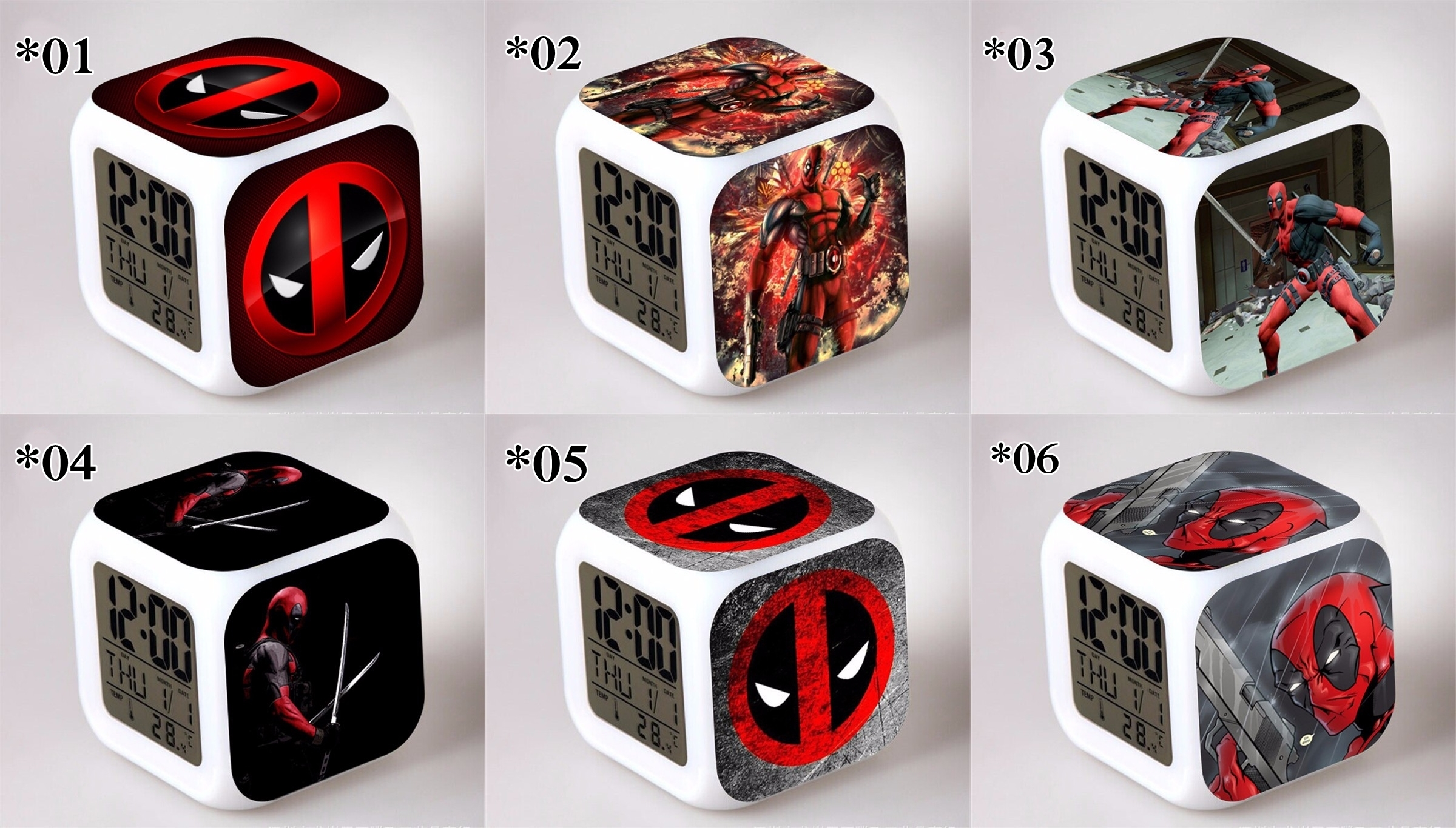 Relojes digitales Dead Pool *02