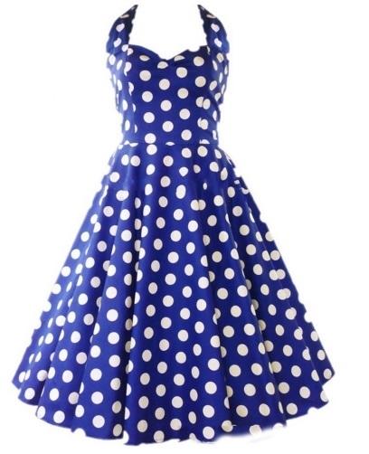 Vestido estilo Audrey Hepburn Azul