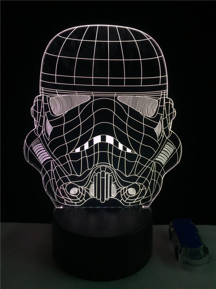 Lampara 3D Soldado Blanco